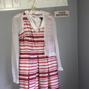Ann Taylor dress with sweater (bundle)